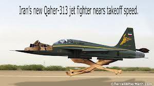 Iran's new Qaher-313 Jet Fighter nears takeoff speed. lol.