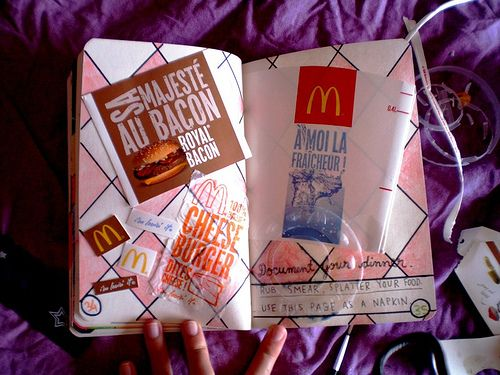 wreck this journal document your dinner here | Wreck This Journal [15] - Cover...