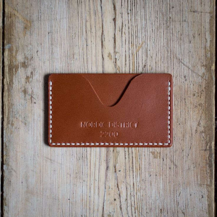'Njord' Card Holder - Chestnut via NORDIC DISTRICT. Click on the image to see more!