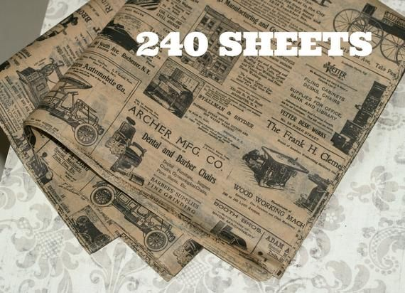 Kraft Newsprint Tissue Wrap 240 Sheets Vintage Look 15 X 20 Packaging Gift Wrap Newspaper Ad Old Fashioned Wrapping Paper Bulk In 2020 Tissue Paper Wrapping Paper Supplies Wrapping Paper