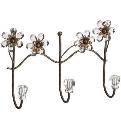 jeweled flowers wall hook