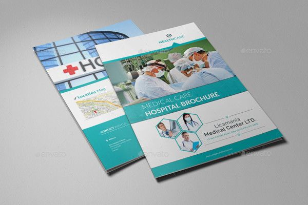 Indesign Hospital Brochure Template  Des Have Industrial Look