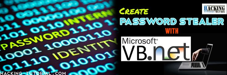 Create Password Stealer Using VB Visual Studio.Net   The recovery files  code.txt (which include the code written bellow)  the visual basic project.DOWNLOAD HERE REQUIREMENTS: 1) A mail.com account (their stmp is open and available for 3rd party apps) 2) Basic knowledge in vb. 3) Visual Studio 2008 or more (there is a free version however I will be using the ultimate version of 2013) 4) Nirsoft password recovery bins 5) A victim. OVERVIEW: We are going to create an exe file when opened it…