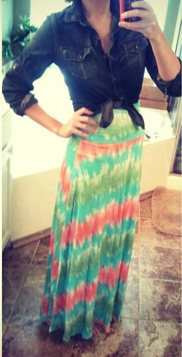 Monica's Closet Essentials | Tie Dye Maxi Skirt | Online Store Powered by Storenvy