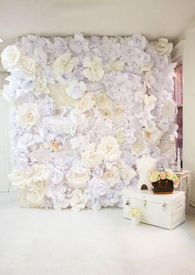 DIY Paper Flower Wall, via Pinterest