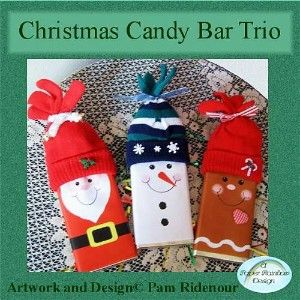 Christmas Trio Candy Bar Wrappers