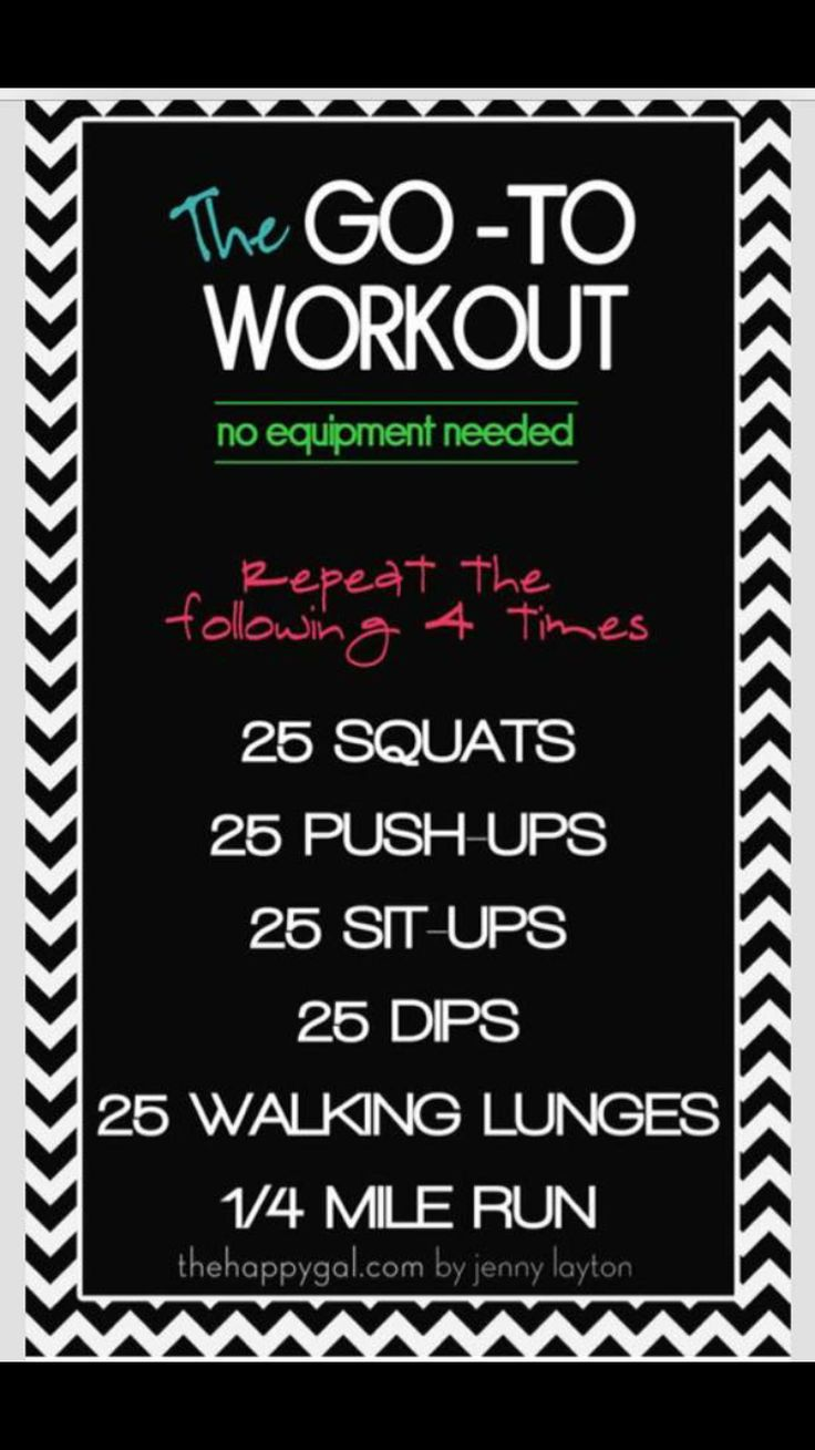 The Go To Workout