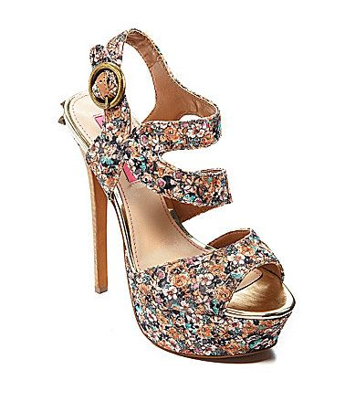 Betsey Johnson Endall Floral Sandals #Dillards