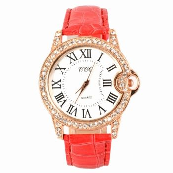 Moda Caliente Prácticos 6 Colores De Cuero Sintético Ajustable Correa Mujeres Relojes