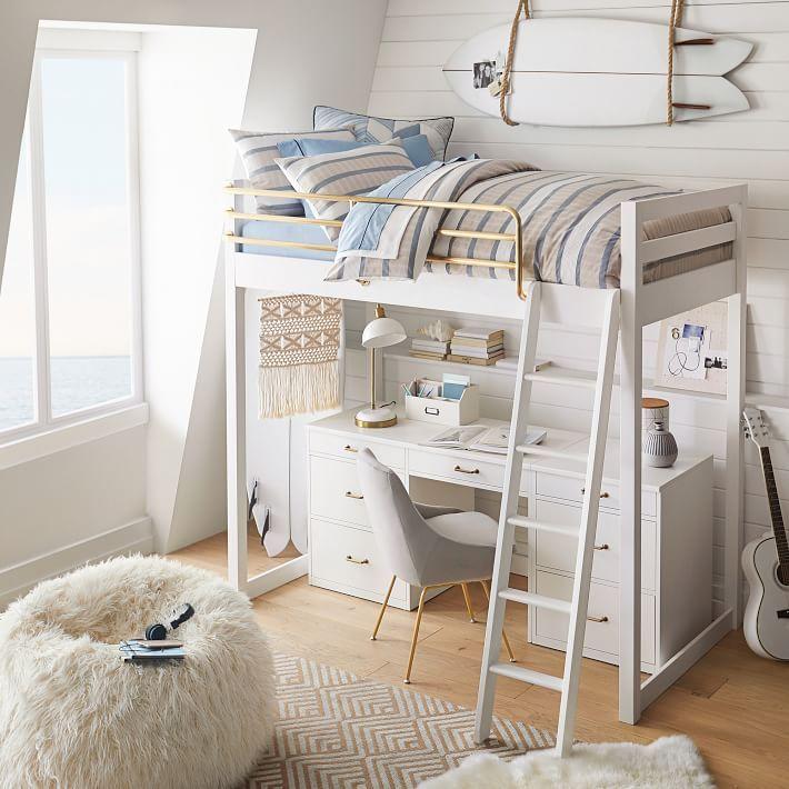 Waverly Loft Storage Desk Set Loft Beds For Teens Girls Loft Bed Loft Bunk Beds