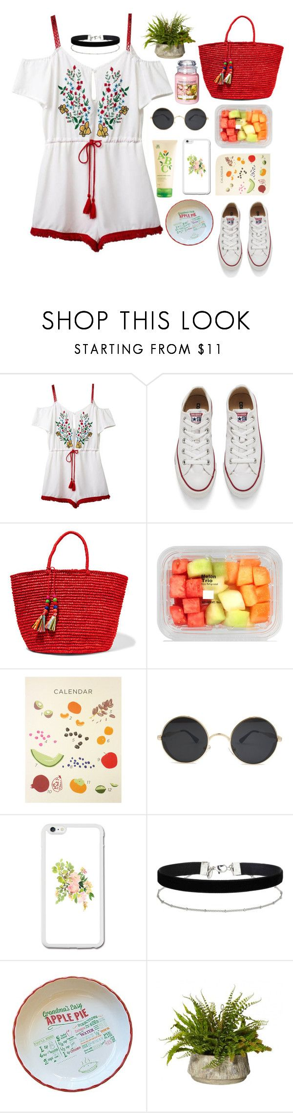 """""""Visiting my granny"""" by hermiona355 ❤ liked on Polyvore featuring Chicnova Fashion, Converse, Sensi Studio, Miss Selfridge, Yankee Candle and Arbonne"""
