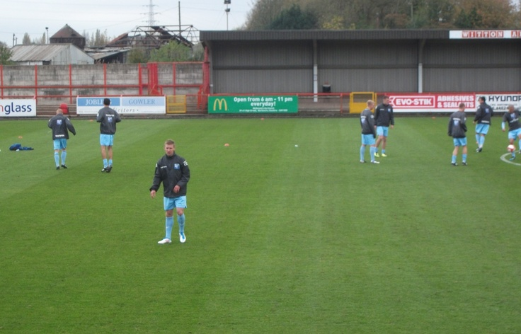 Barrow training ahead of their match with Witton Albion in the FA Cup 4th Qualifying Round (Wincham Park 2011)