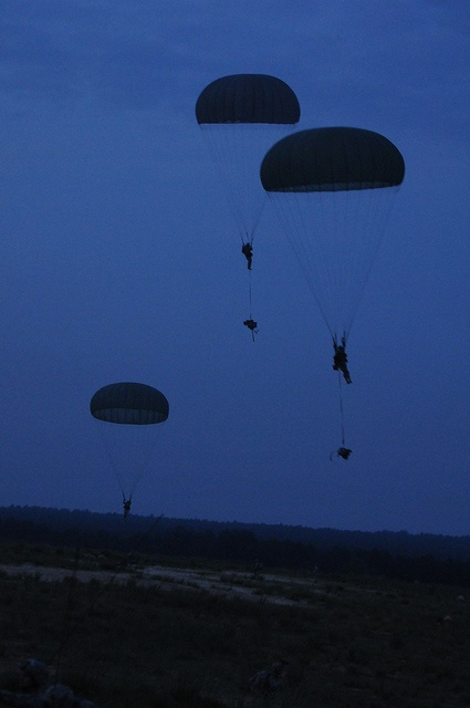Paratroopers from the 82nd Airborne Division participate in the joint operations access exercise.