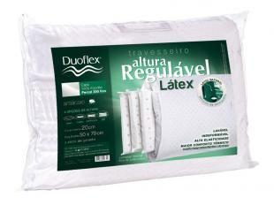 Travesseiro Antiácaro 48x68cm - Duoflex Altura Regulável Látex Rl1103