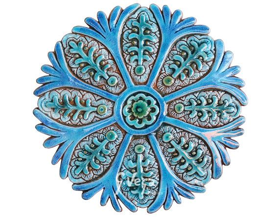 Hey, I found this really awesome Etsy listing at https://www.etsy.com/listing/219326327/suzani-wall-decor-made-from-ceramic