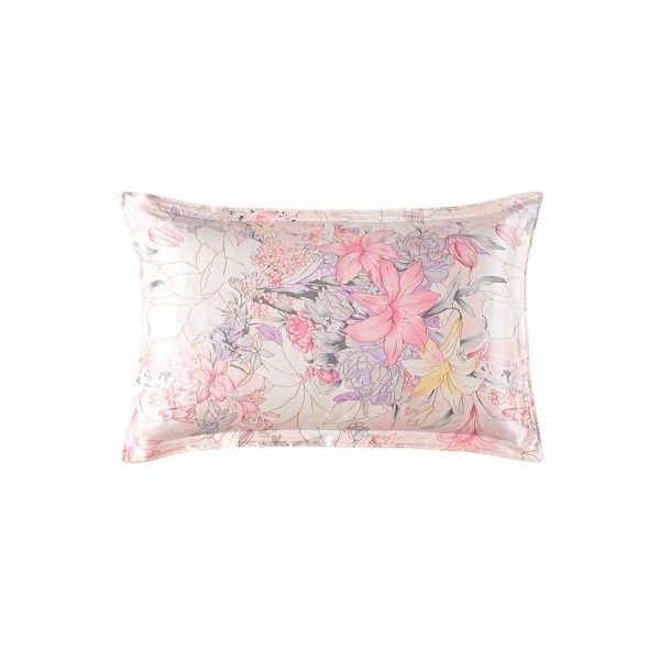 16.5 Momme Printed Oxford Silk Pillowcase (€31) ❤ liked on Polyvore featuring home, bed & bath, bedding, bed sheets, silk bedsheets, neutral bedding, silk pillow case, silk bed linen and silk pillowcase