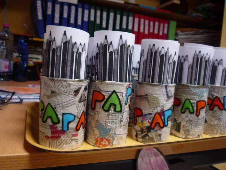 fete des peres pot de crayon