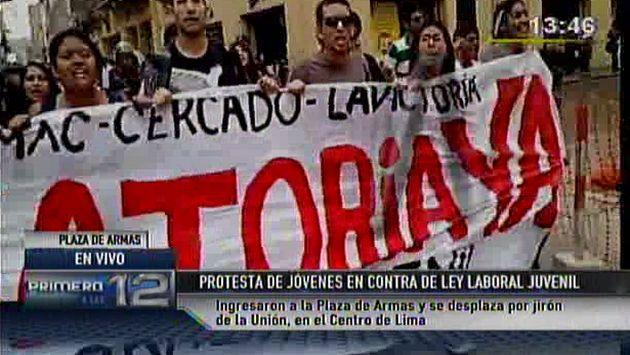 Ley Pulpín: Jóvenes protestaron en Plaza de Armas pese a que está prohibido