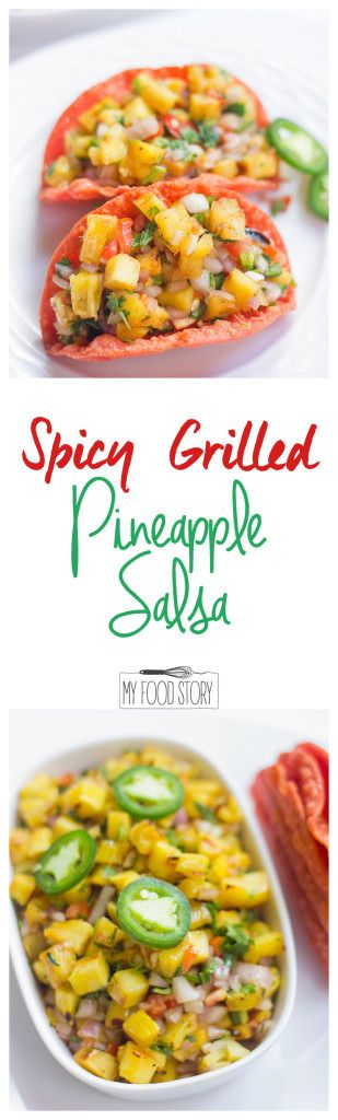 Easy recipe for a spicy grilled Pineapple Salsa that'll keep your tacos, meat and seafood company! Try it!
