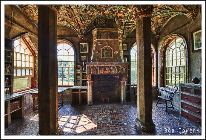 """Columbus Room"" at Fonthill, Doylestown, Pennsylvania, built 1908-1912"