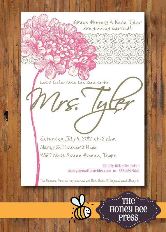 Bridal Shower or Bridal Luncheon Invitation  by TheHoneyBeePress, $15.00
