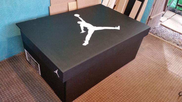 XL TRAINER / SNEAKER Storage box - Nike Air Jordan (holds 16no pairs) by UniqueWallsuk on Etsy
