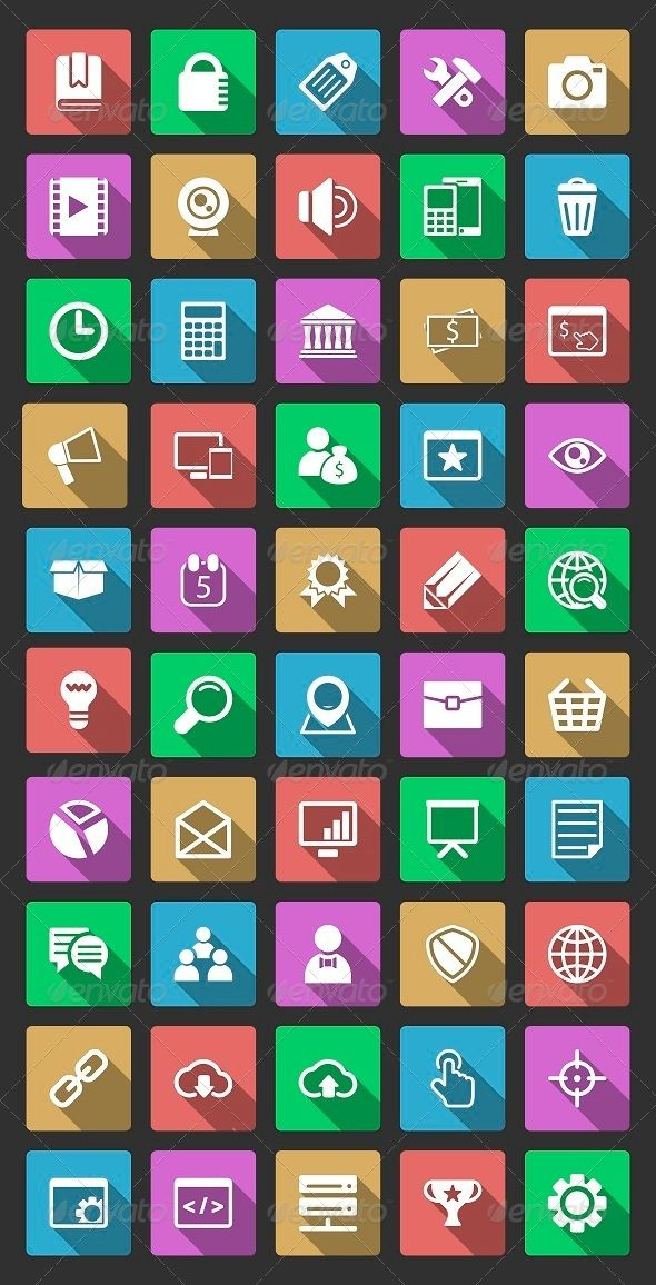 50 SEO Icons With Long Shadow — Photoshop PSD #decision #photo • Available here → https://graphicriver.net/item/50-seo-icons-with-long-shadow/6513013?ref=pxcr