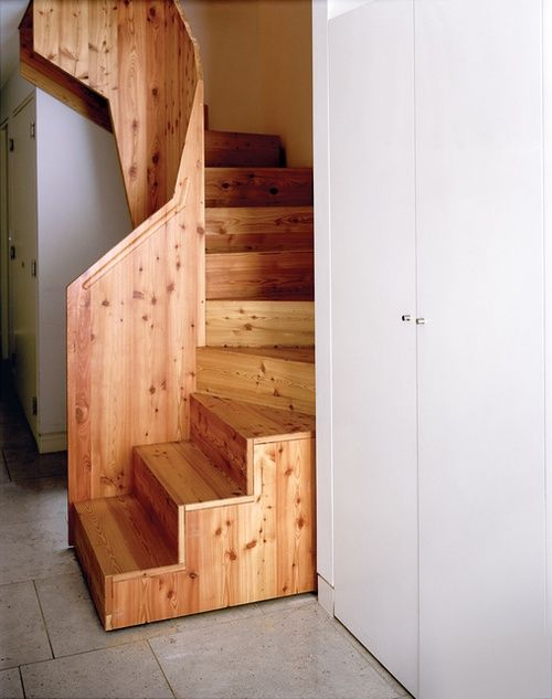 Narrow stairs 8 pinterest - Small attic spaces design ...