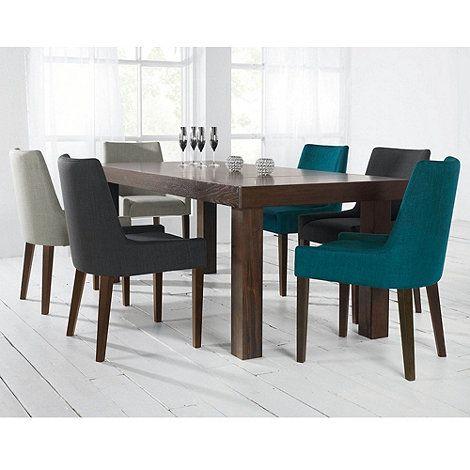 debenhams pair of teal blue 39 ella 39 upholstered tub dining. Black Bedroom Furniture Sets. Home Design Ideas