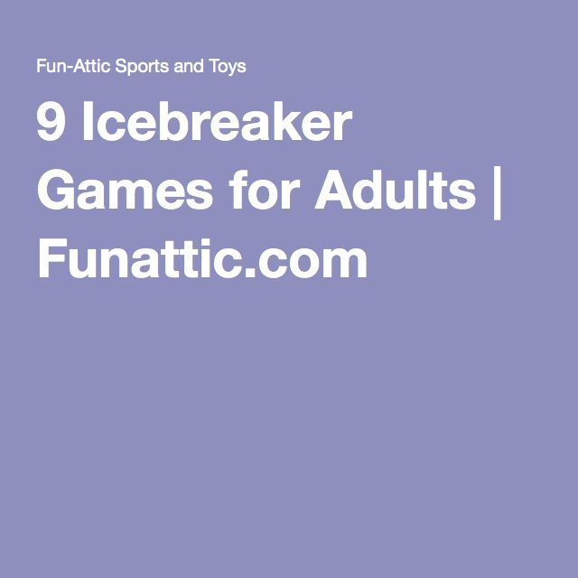 9 Icebreaker Games for Adults | Need some fun icebreaker games for adults? Here we have compiled a list of 9 games that will have the group interacting and having fun.