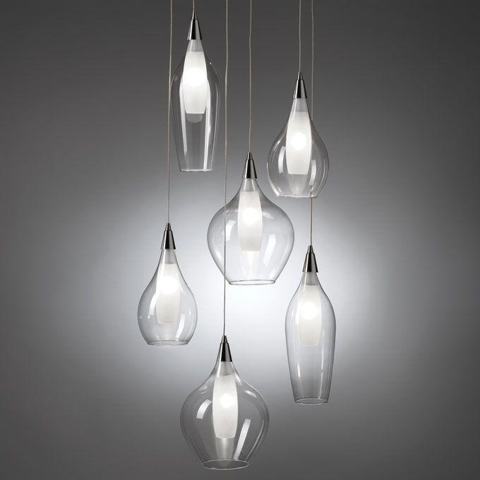 LAMPADARIO 'CLEAR' O1045 Lampadario Clear in vetro Dimensioni: 45x150 h. cm. Mascagni Casa
