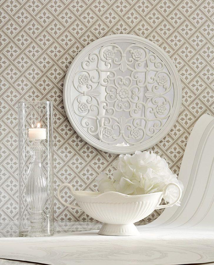 Mr Jones Dove Grey Wallpaper - Laura Ashley