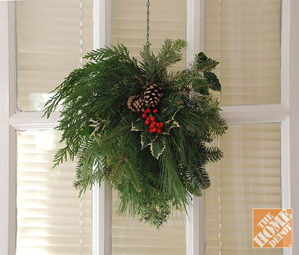 Tackle this simple DIY wreath alternative for something fresh to adorn your front door!