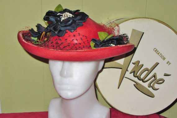 Creation by ANDRÉ Ladies Estate Vintage Poppy Red by HatsForward