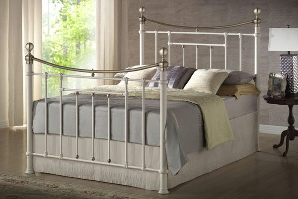 Buy Star Collection, Bronte, 5FT Kingsize Bedstead - Cream - bedstar.co.uk| Bedstar
