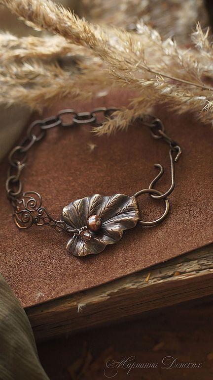 """Купить Браслет  """"Leaf"""" - Браслет ручной работы, браслет, украшения ручной работы, женские украшения"""