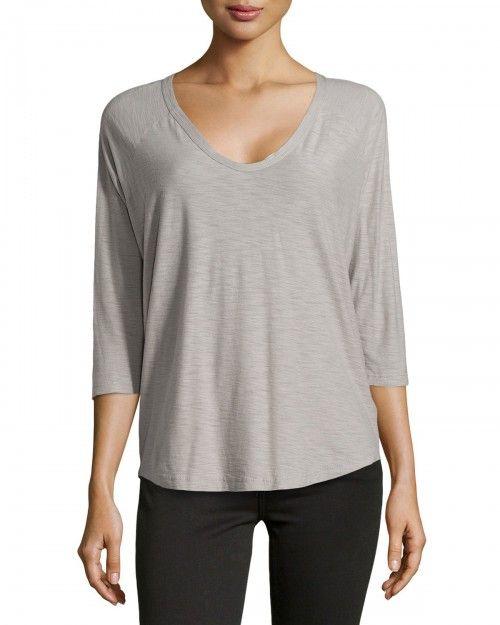James Perse Jersey Baseball Style Tshirt Shadow 1 T Shirt | Shirts, Tops and Clothing