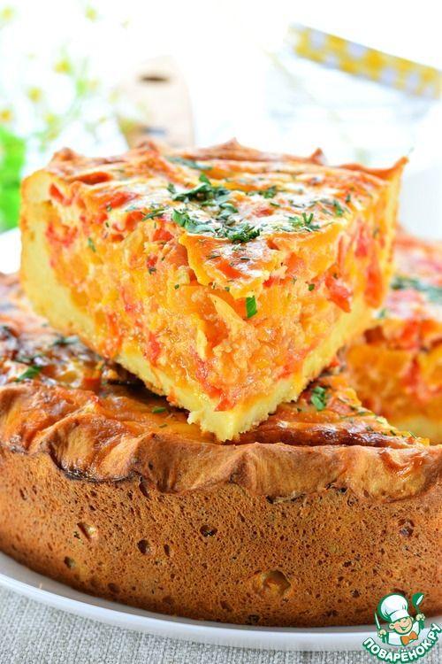 Открытый овощной пирог - кулинарный рецепт