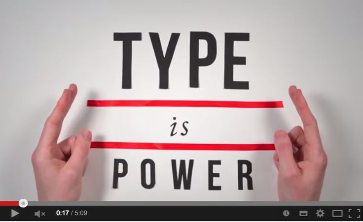 The History of Typography - Loves by Domus