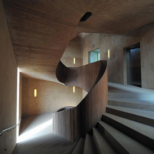 Beautiful stairs - Museum Kuppersmuhle by Herzog and de Meuron