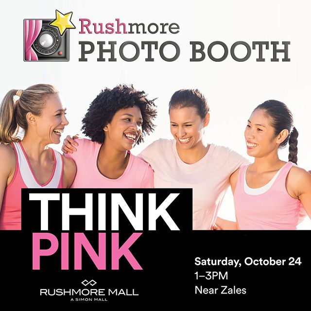 Join us this Saturday October 24th from 1pm-3pm at Rushmore Mall for our Think Pink event celebrating Breast Cancer Awareness Month! The afternoon will be full of hope, awareness, fashion, beauty and fun! Grab your mom, sister, aunt or your special girlfriend and join us! The first 100 ladies will receive a special swag bag!