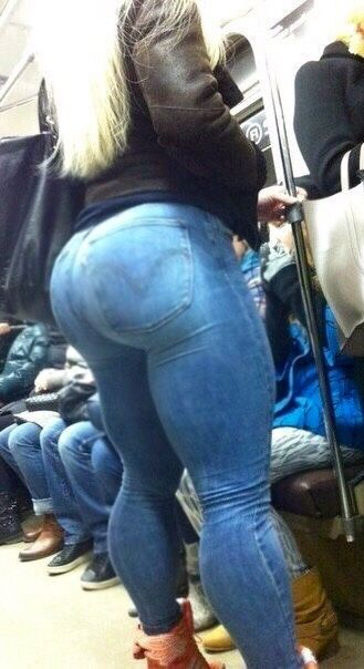 Huge black ass in jeans