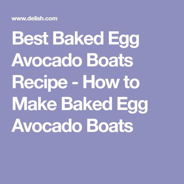 Best Baked Egg Avocado Boats Recipe - How to Make Baked Egg Avocado Boats
