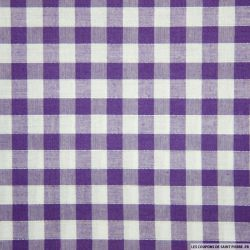Tissu Coton Vichy 9mm Violet