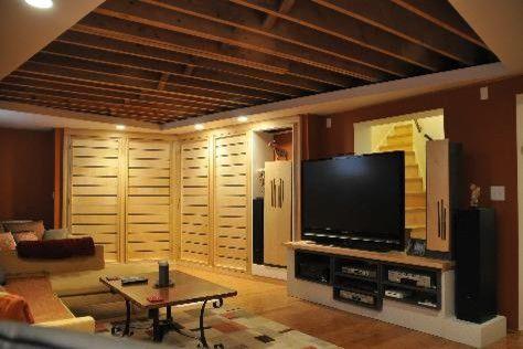 Basement Ideas Pinterest felice basement ideas exposed joist ceilingjpg #44 basement
