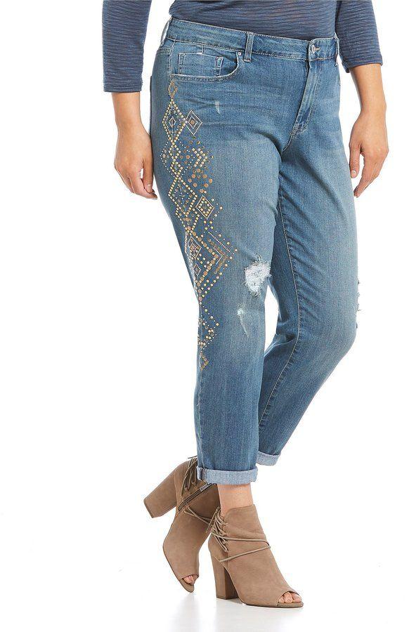Jessica Simpson Plus Mika Best Friend Stud Jeans