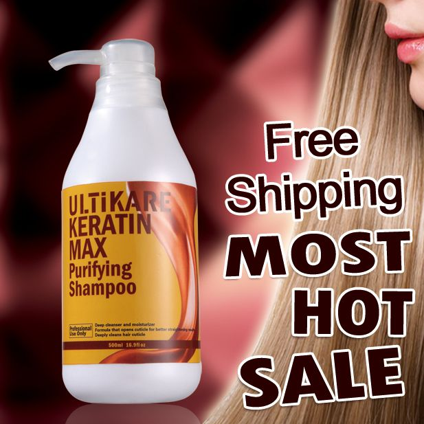 Hot Sale 500ml Brazilian keratin hair treatment Purifying shampoo deep clean hair   free shipping