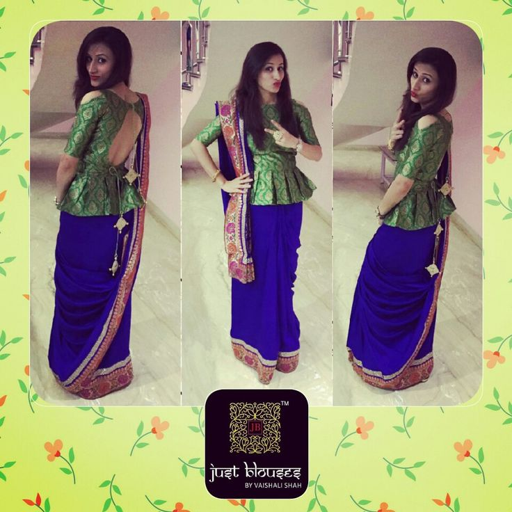 #clientdiaries #justblouses #customised #peplumblouse #choli