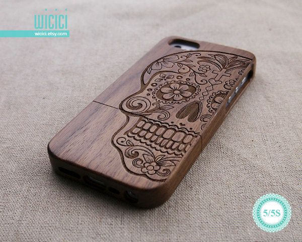 Walnut Wood iPhone 5s Case iPhone 5 case Engraved Sugar by wicici, $24.99