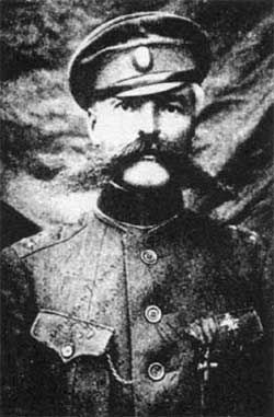 Konstantin Mamontov, was a Russ. mil. commander and famous gen. of the Don Cossacks, who fought for the Whites a.during the Russ. C.W. After the personal order of Lenin,  the best cavalry brigade of the Red Army under the leadership of Budyonny against Mamontov Corps, who succeeded in November 1919 after very bloody fighting in the Battle of Voronezh Kastorensk and in the Kharkov operations. The failure of the Forces of South Russia was crucial for the consolidation of the Bolshevik power.